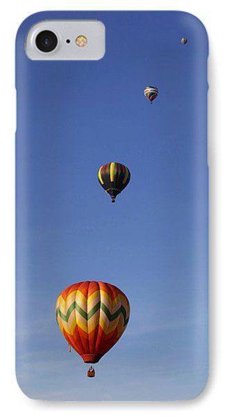 Pretty Balloons   All In A Row IPhone Case by Gene Walls