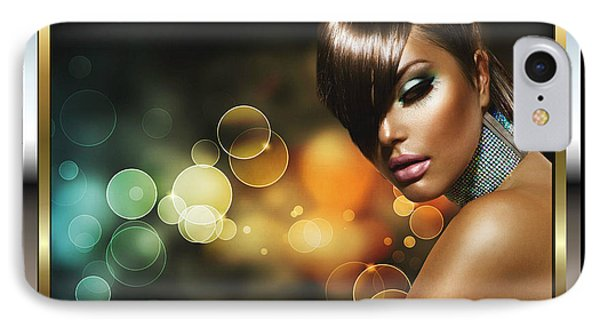 IPhone Case featuring the digital art Pretty Brown Sugar 2 by Karen Showell