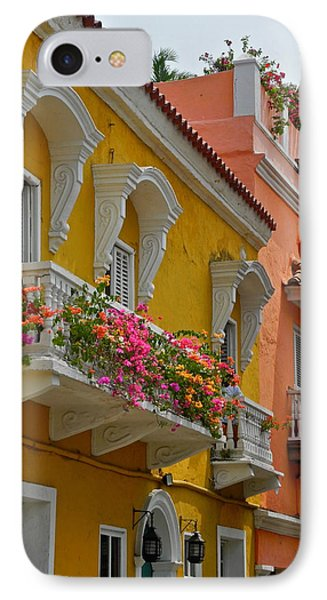 Pretty Dwellings In Old-town Cartagena IPhone Case by Kirsten Giving
