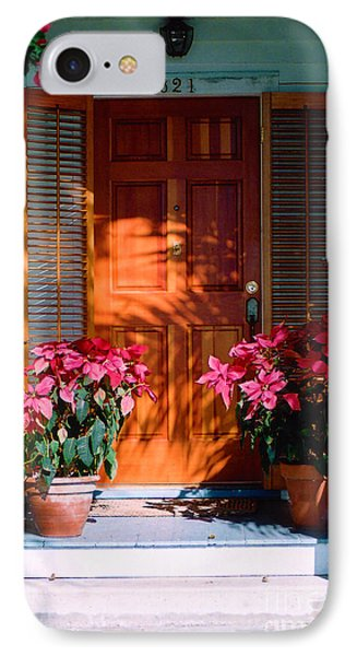 Pretty House Door In Key West Phone Case by Susanne Van Hulst