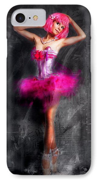 Pretty In Pink IPhone Case by Kim Gauge