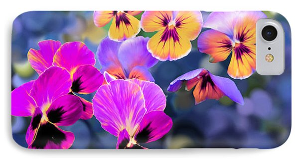 Pretty Pansies 3 IPhone Case by Bruce Nutting