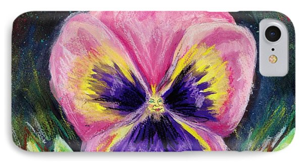 Pretty Pink Pansy Person Phone Case by Shana Rowe Jackson