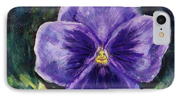 Pretty Purple Pansy Person IPhone Case