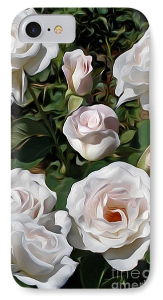 Pretty Rose Garden IPhone Case by Kaye Menner