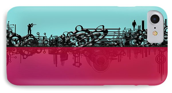 IPhone Case featuring the digital art Prey by Andy Walsh