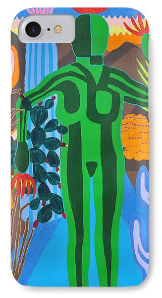 IPhone Case featuring the painting Pricked by Erika Chamberlin