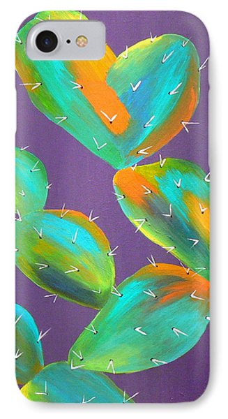 Prickly Pear Abstract IPhone Case by Karyn Robinson