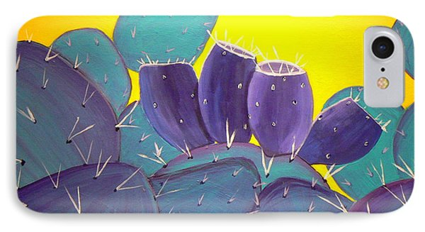 Prickly Pear With Fruit IPhone Case by Karyn Robinson