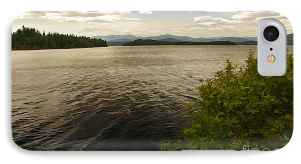 IPhone Case featuring the digital art Priest Lake  by Sam Rosen