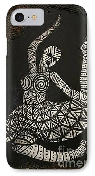 IPhone Case featuring the painting Primal Dancer Origin by Kristen R Kennedy