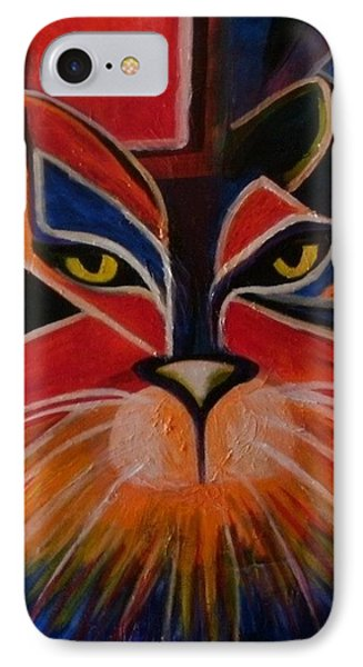 Primary Cat Phone Case by Carolyn LeGrand