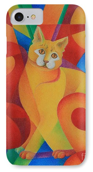 IPhone Case featuring the painting Primary Cat II by Pamela Clements