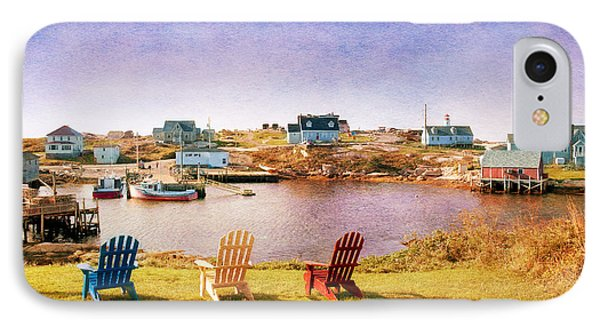 Primary Chairs - Digital Art Phone Case by Renee Sullivan