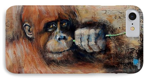 Primate IPhone Case by Jean Cormier