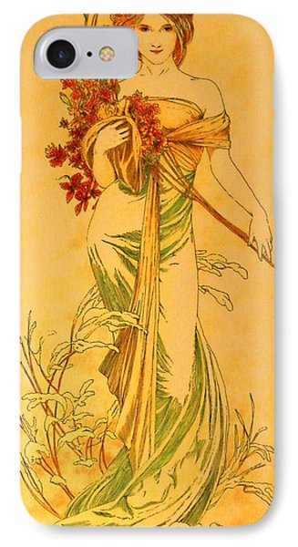 Primavera After Mucha IPhone Case