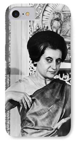 Prime Minister Indira Gandhi IPhone Case by Warren Leffler