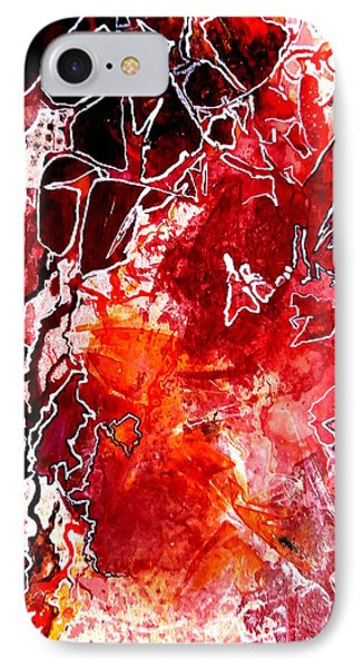 IPhone Case featuring the painting Primeval by Buck Buchheister