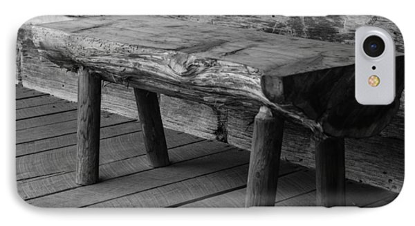 IPhone Case featuring the photograph Primitive Wooden Bench by Robert Hebert