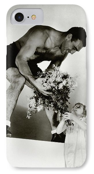 Primo Carnera Receiving Flowers From A Little IPhone Case by Edward Steichen