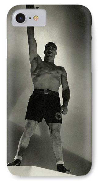 Primo Carnera Saluting IPhone Case by Edward Steichen
