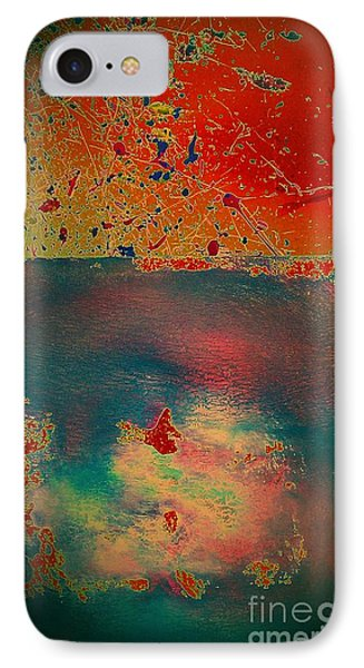 IPhone Case featuring the painting Primordial by Jacqueline McReynolds