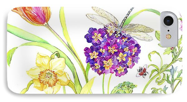 Primrose And Dragonfly IPhone Case