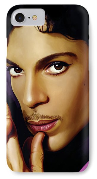 Rock And Roll iPhone 7 Case - Prince Artwork by Sheraz A