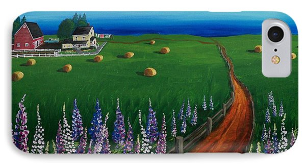 Prince Edward Island Coastal Farm IPhone Case by Patricia L Davidson