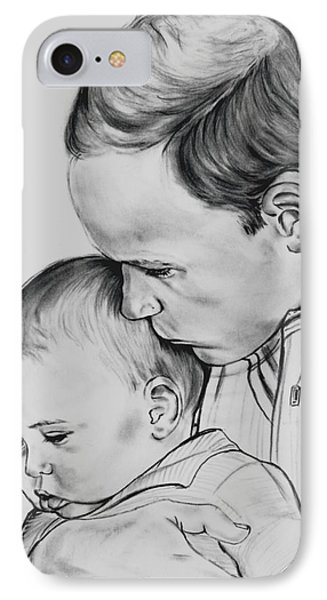Prince William Holding Prince George IPhone Case by Barb Baker