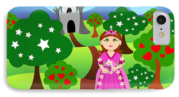Princess And Castle Landscape Phone Case by Sylvie Bouchard