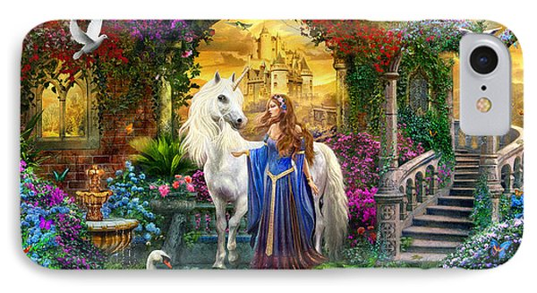 Princess And Unicorn In The Cloisters IPhone Case