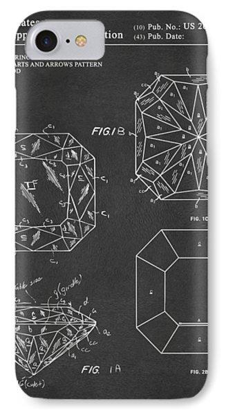 Princess Cut Diamond Patent Gray IPhone Case