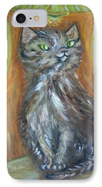 IPhone Case featuring the painting Princess Kitty by Teresa White