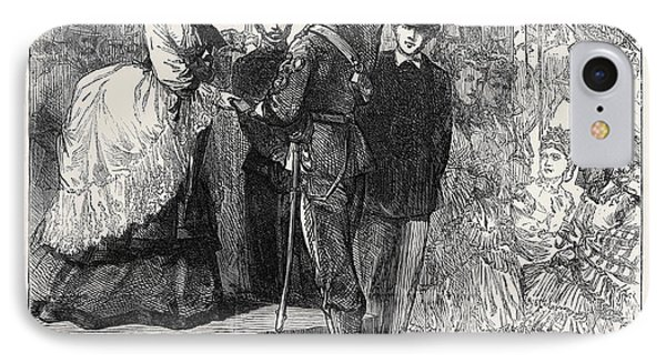 Princess Louise Presenting The Prizes At Wimbledon 1871 IPhone Case
