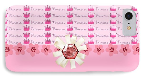 Princess Pink Crowns Phone Case by Debra  Miller