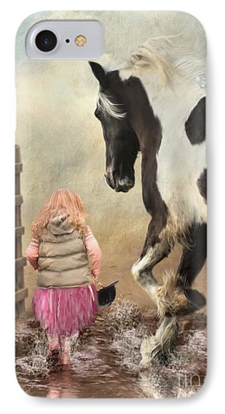 Princess Puddles And Sir Stamp Alot IPhone Case by Trudi Simmonds