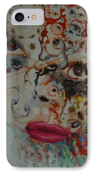 IPhone Case featuring the mixed media Princess Roadkill by Douglas Fromm