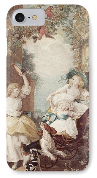 Princesses Mary Sophia And Amelia Daughters Of George IIi IPhone Case by John Singleton Copley