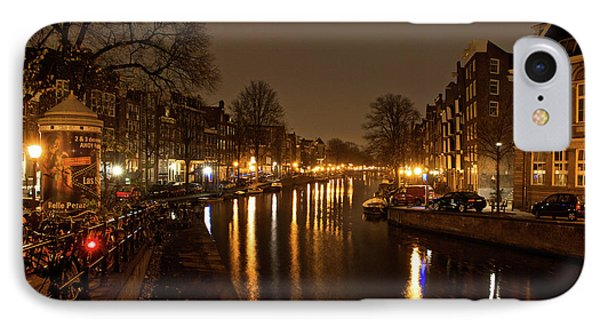 Prinsengracht Canal After Dark IPhone Case by Jonah  Anderson