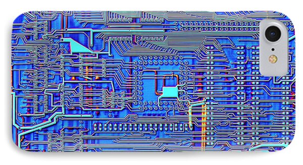 Printed Circuit Board IPhone Case by Alfred Pasieka