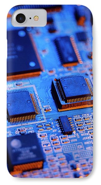 Printed Circuit Board IPhone Case by Mark Sykes