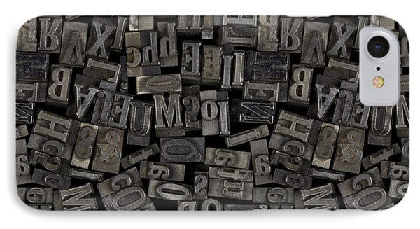 Printing Letters 2 Phone Case by Bedros Awak