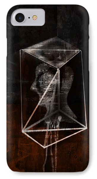 IPhone Case featuring the mixed media Prism by Kim Gauge