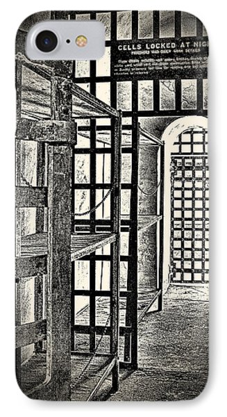 IPhone Case featuring the photograph Prison Cell ... by Chuck Caramella