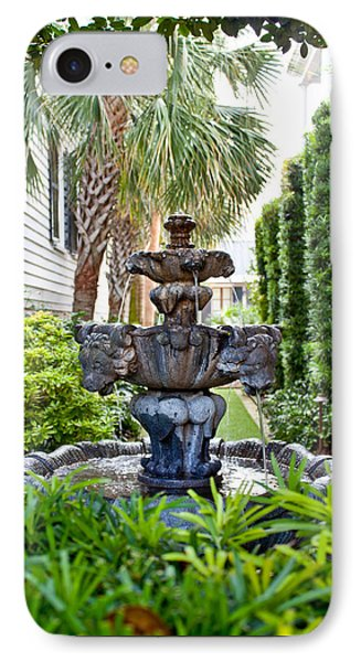 IPhone Case featuring the photograph Private Fountain by Jean Haynes
