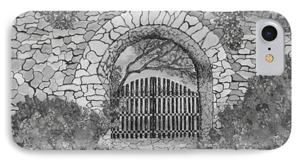 Private Garden At Sunset Black And White IPhone Case