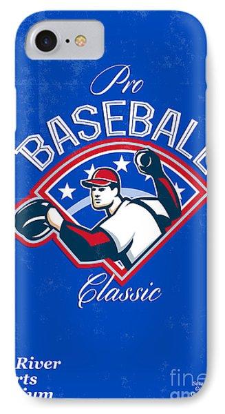 Pro Baseball Classic Tournament Retro Poster Phone Case by Aloysius Patrimonio