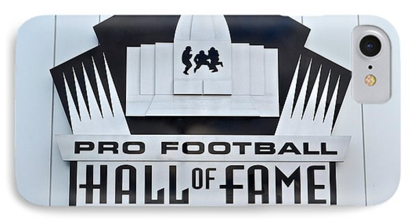 Pro Football Hall Of Fame Phone Case by Frozen in Time Fine Art Photography