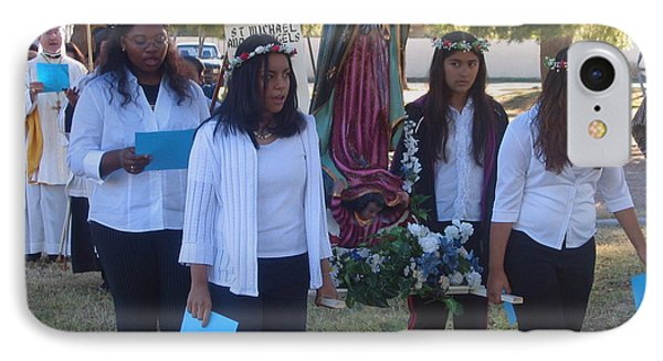 Procession With Statue Virgin Of Guadalupe St Michael And All Angels Liberal Catholic Church Casa Gr Phone Case by David Lee Guss